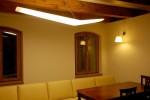 Osvětlení jídelny v historické budově